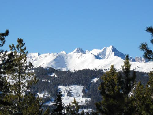 Pyramid Peak as seen from Smuggler Mountain