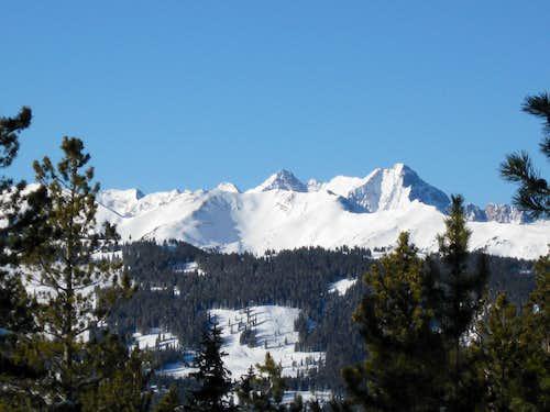 Pyramid Peak as seen from Smuggler Mountain