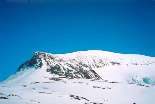 Base of the north ridge. This...