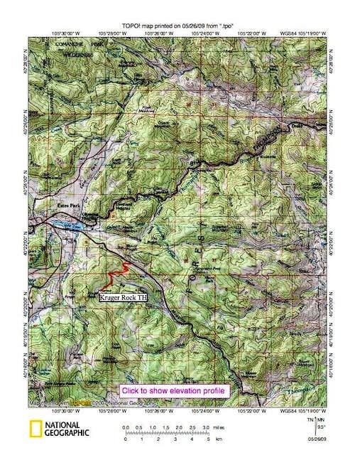 Hermit Park locator map