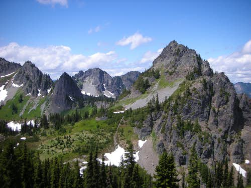 Lane Peak from the summit of Denman