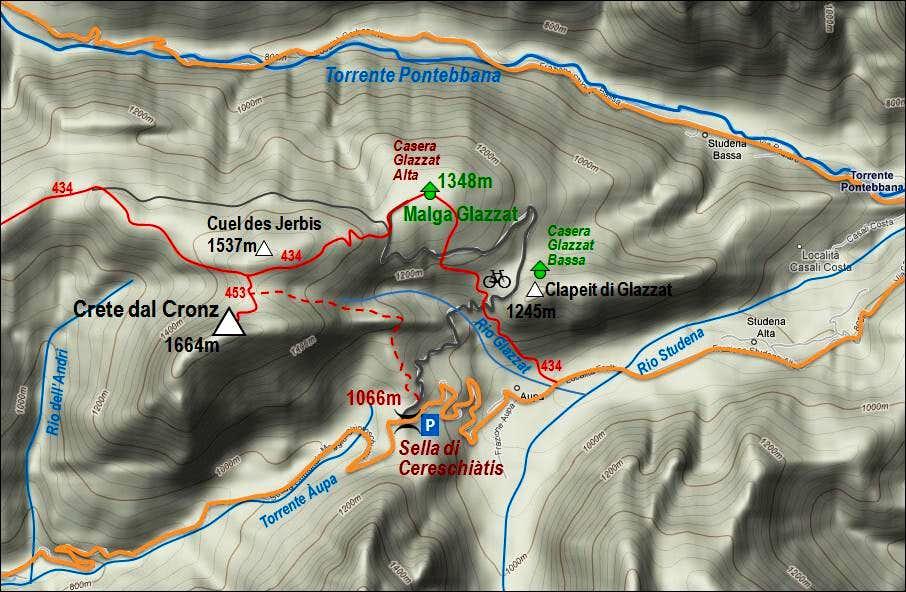 Crete dal Cronz map