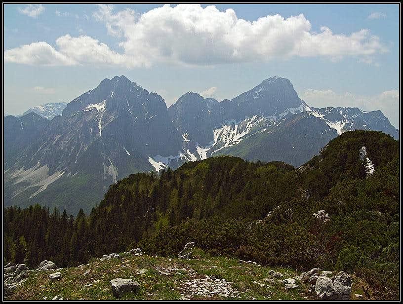 Creta Grauzaria and Monte Sernio from Crete dal Cronz
