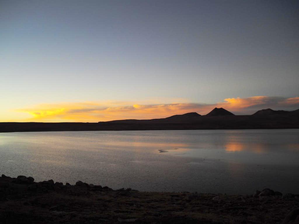 Laguna Apalcocha (16,089') at Sunset