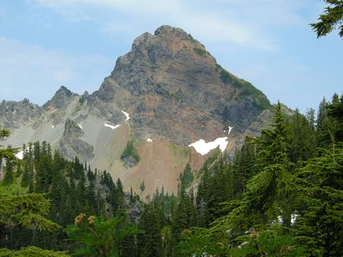 Mount Thompson from Southeast Ridge of Alaska Mountain