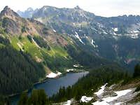 Joe Lake and Chikamin Peak