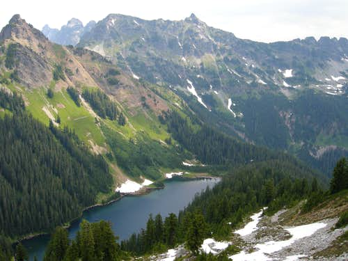 Joe Lake and Chikamin Peak