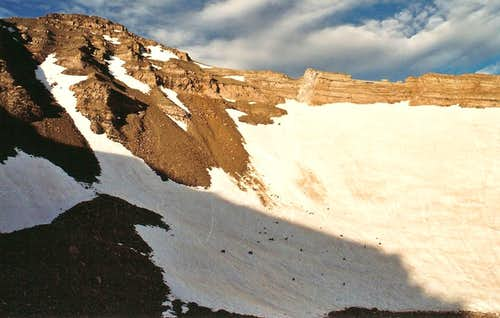 The Snowfields Below Castle Peak