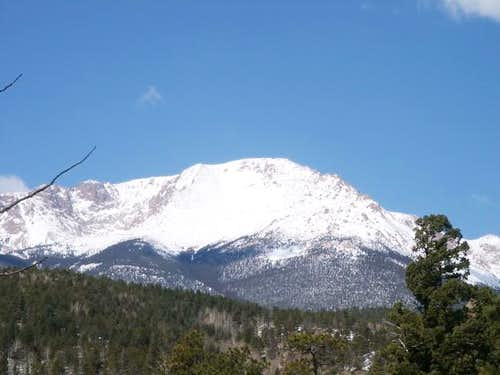 Pikes Peak summit from just...