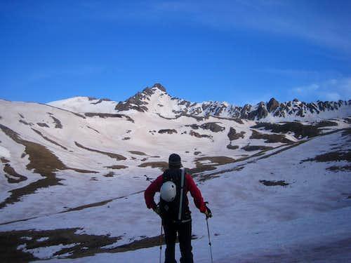 Playing sidekick to a CO 14er Ski Finisher on Wetterhorn Peak - 05/17/09