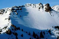The South facing skiable...