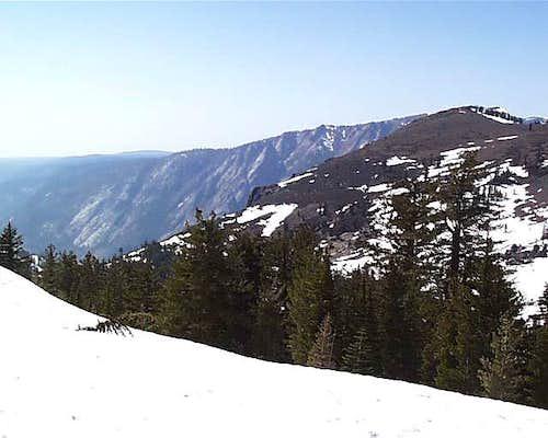 Mount Reba with the Mokelumne...
