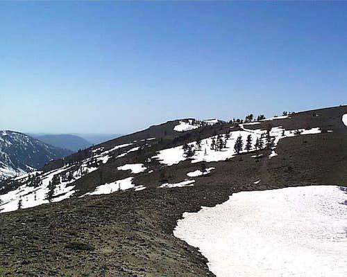 The ridge to Mount Reba clear...