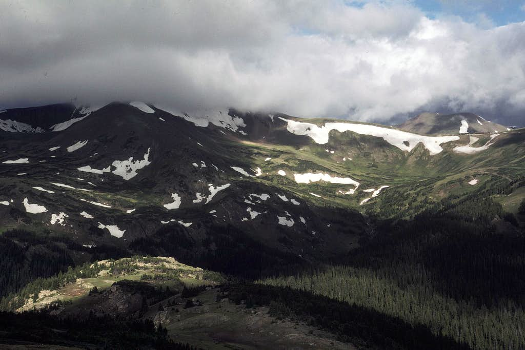Clouds over Desolation Peaks area from  Chiquita
