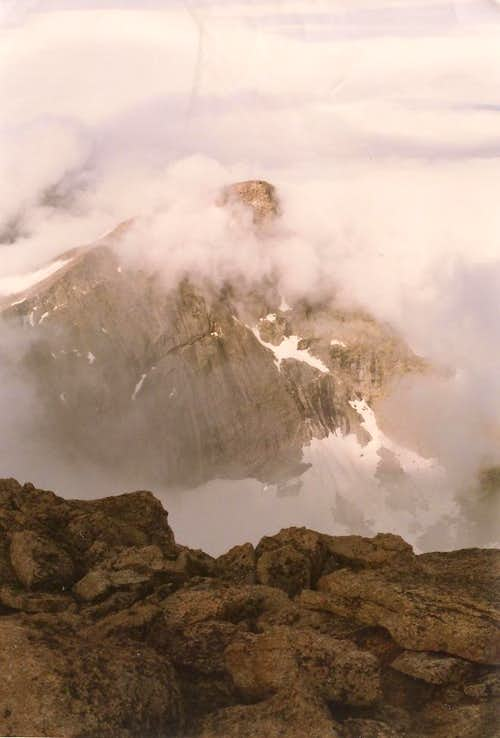 Chiefs Head from the Summit of Longs