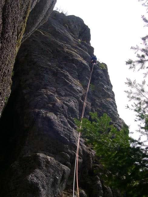 Leading the Northwest Ridge...