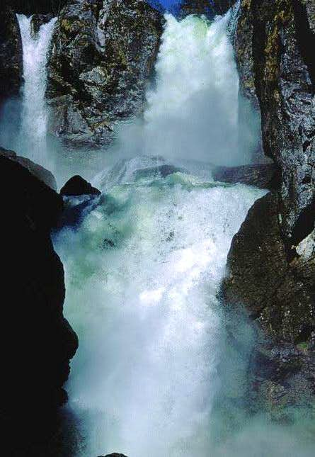 The lower falls of the Aubach...