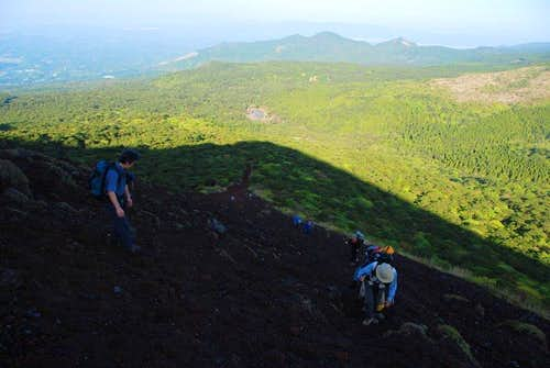 Morning climb of Ohachi's angry snake