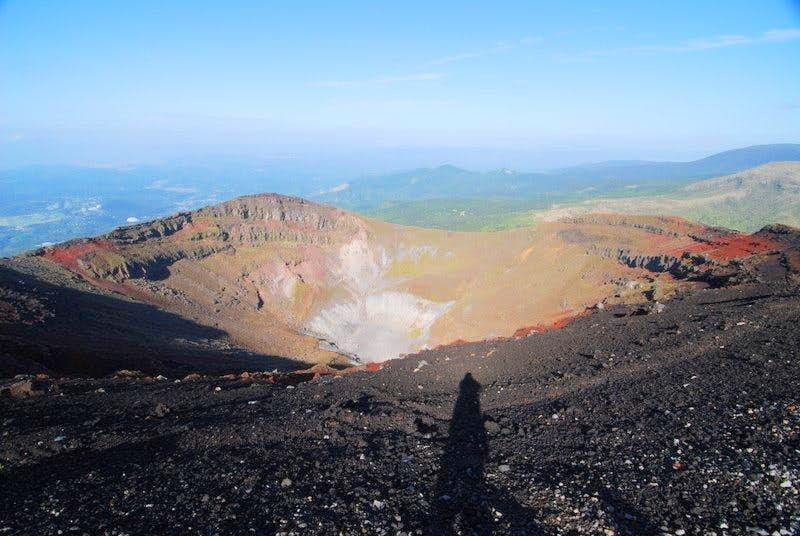 The crater from the highest point on Ohachi