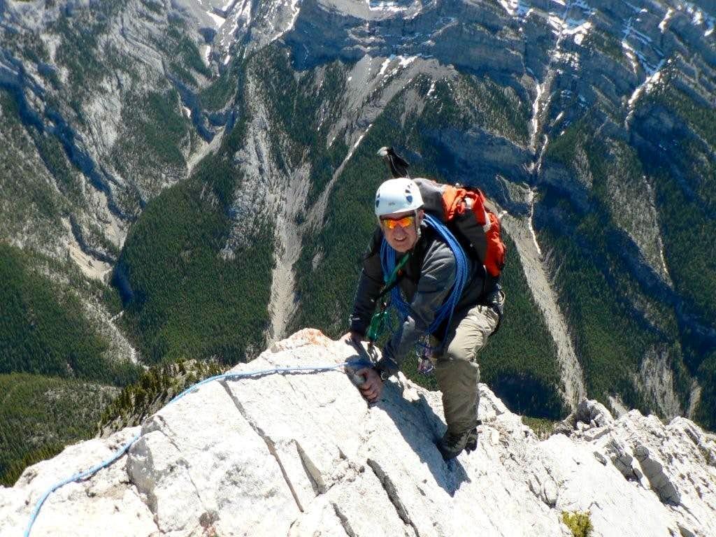 ESE Ridge above 2nd step - knife edge