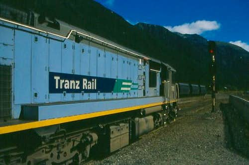 The Tranzalpine train takes...
