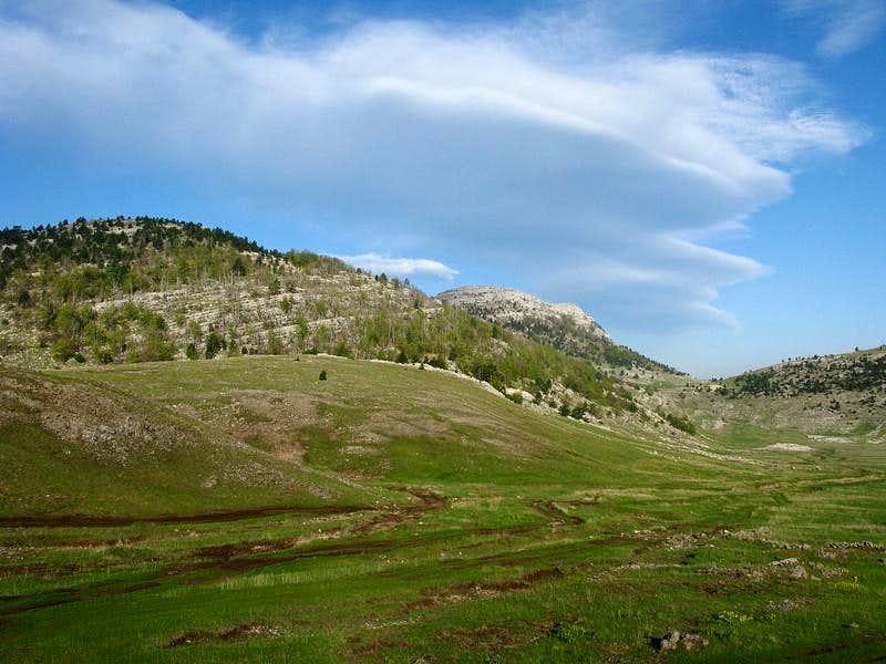 Beautiful Brezovac meadow on Dinara mountain