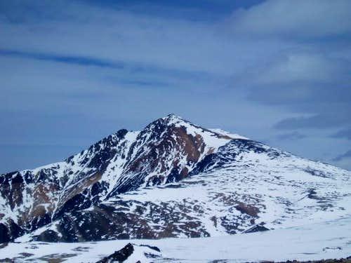 white mountain peak- just...
