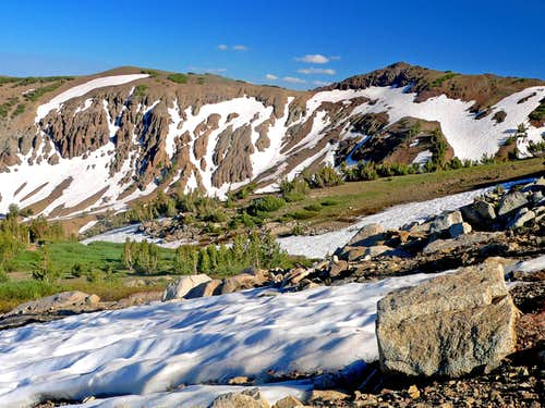 Snow melt near the PCT