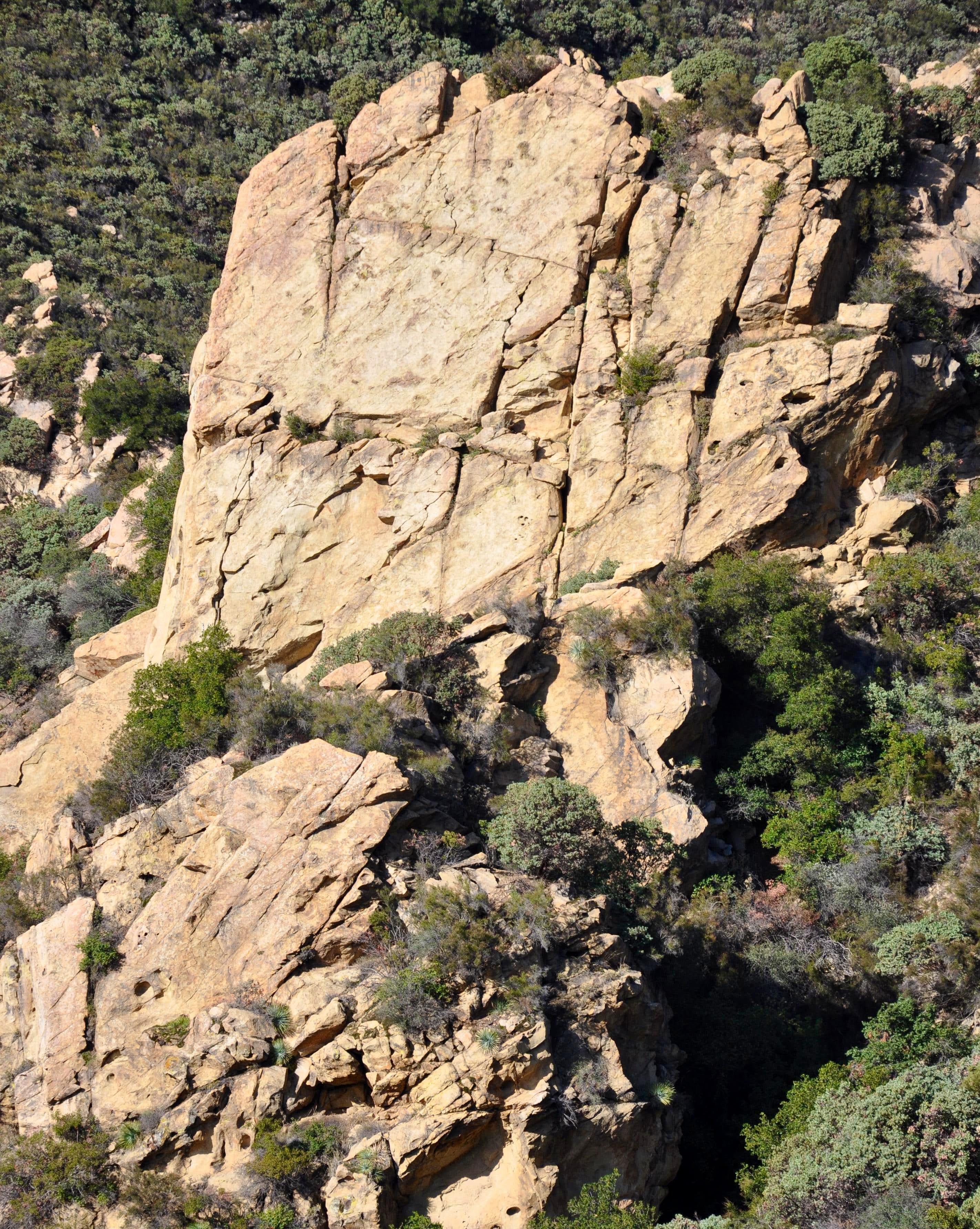 Major Crags of Santa Barbara:  Front Range