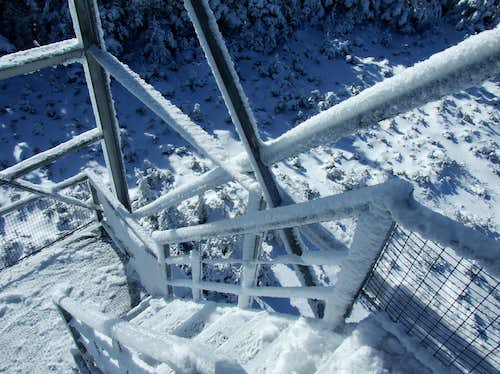 Rime Ice On The Hunter Mountain Firetower