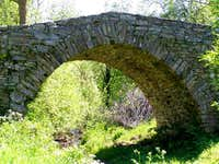 Small historic stone bridge