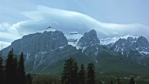 East Rundle from Canmore