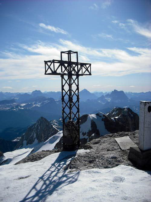 Summit cross on Marmolada Punta Penia