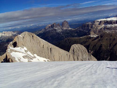View from Marmolada towards North (Sella group)