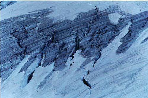 Crevasses of Jackson Glacier