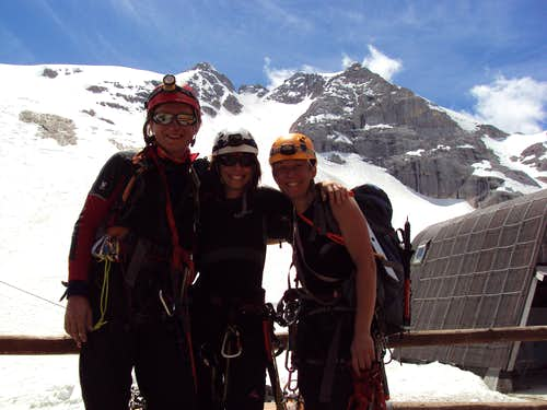 Hero\'s shot after climbing Marmolada(in the background)