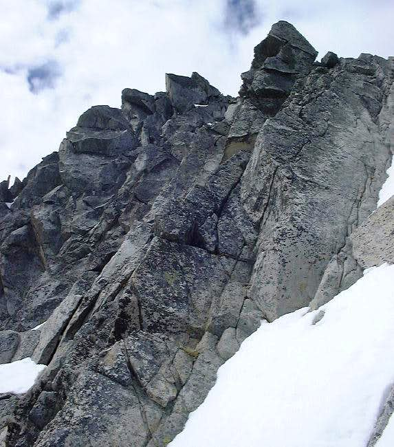 At the top of the couloir,...