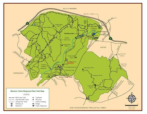 mission trails map