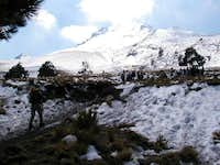 A snow covered La Malinche....