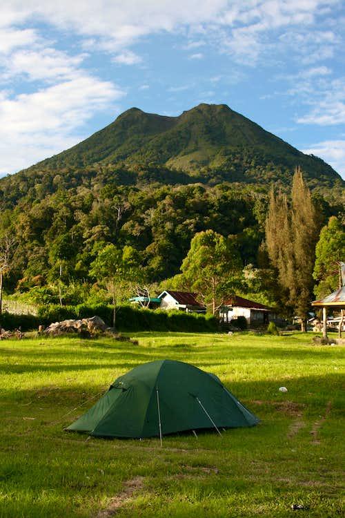 Campsite besides Lake Kawar