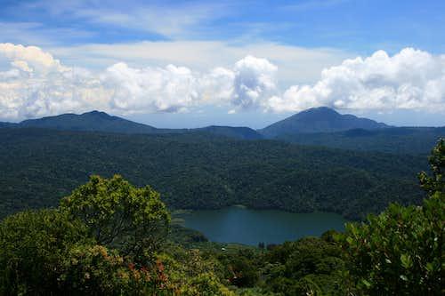 View to Lake Kawar from the upper slopes of Gunung Sinabung