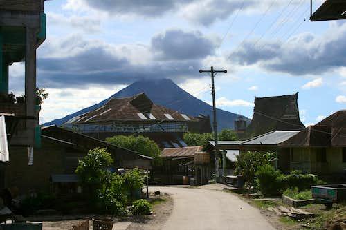 Gunung Sinabung from the village of Lingga