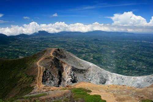 View from Gunung Sinabung's summit