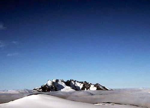 Skagastølstindane. From left...