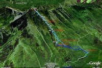 Provo Peak Route - West Ridge