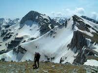 Lupoglav peak (left) and...