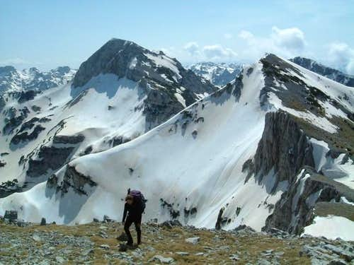 Lupoglav peak (left) and...