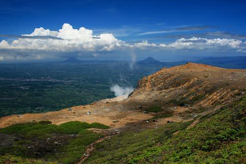 Gunung Sinabung's summit plateau