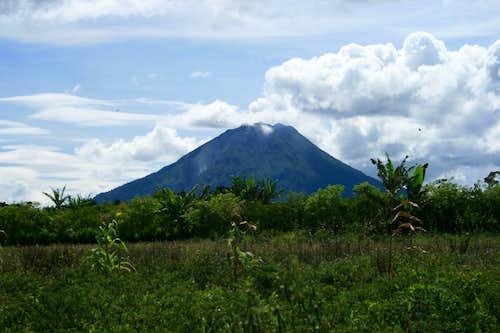 Gunung Sinabung from close to the village of Lingga