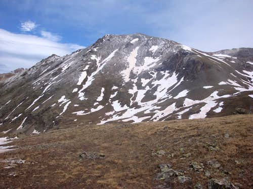 Handies Peak from saddle of Grouse Gulch